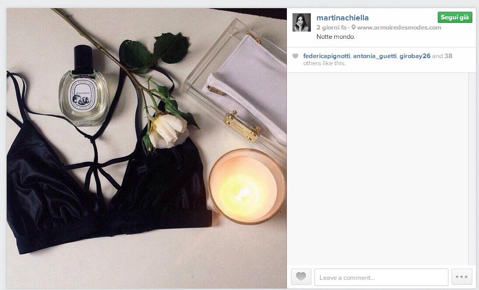 Martina Chiella posta sempre foto di dettagli molto belli, così per sognare un po', oltre che meravigliose foto in cui la ritraggono.